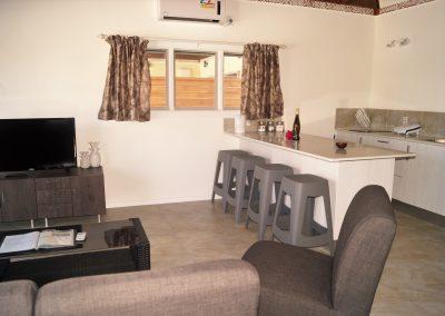 Interior of the first new 2-bedroom villa