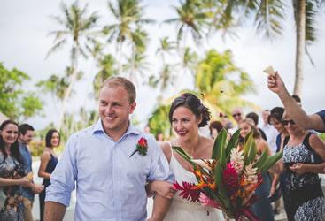 paradise beach wedding samoa